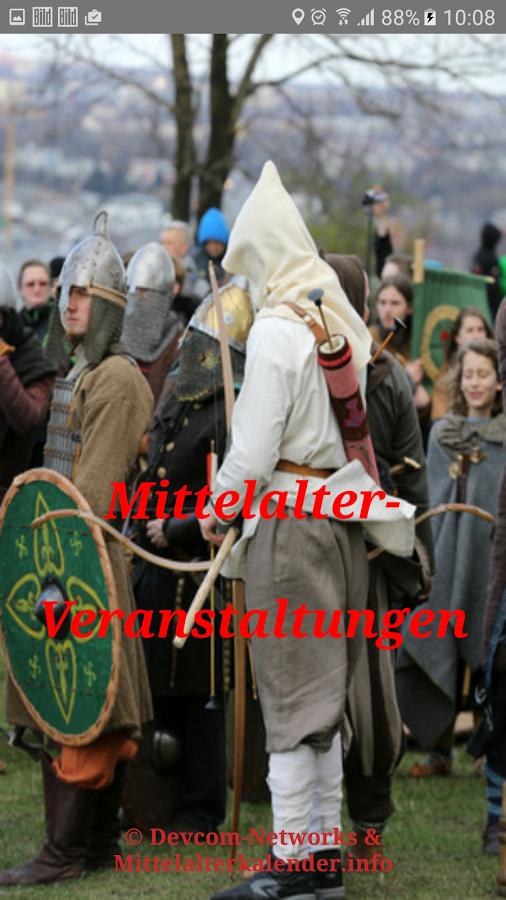 Marktkalendarium-App für alle Mittelalter-Veranstaltungen